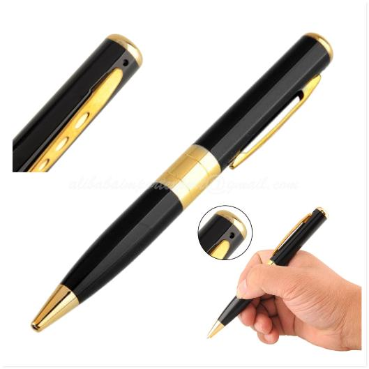 Gold Mini DVR Pen Hidden SPY Camera Camcorder Video Recorder