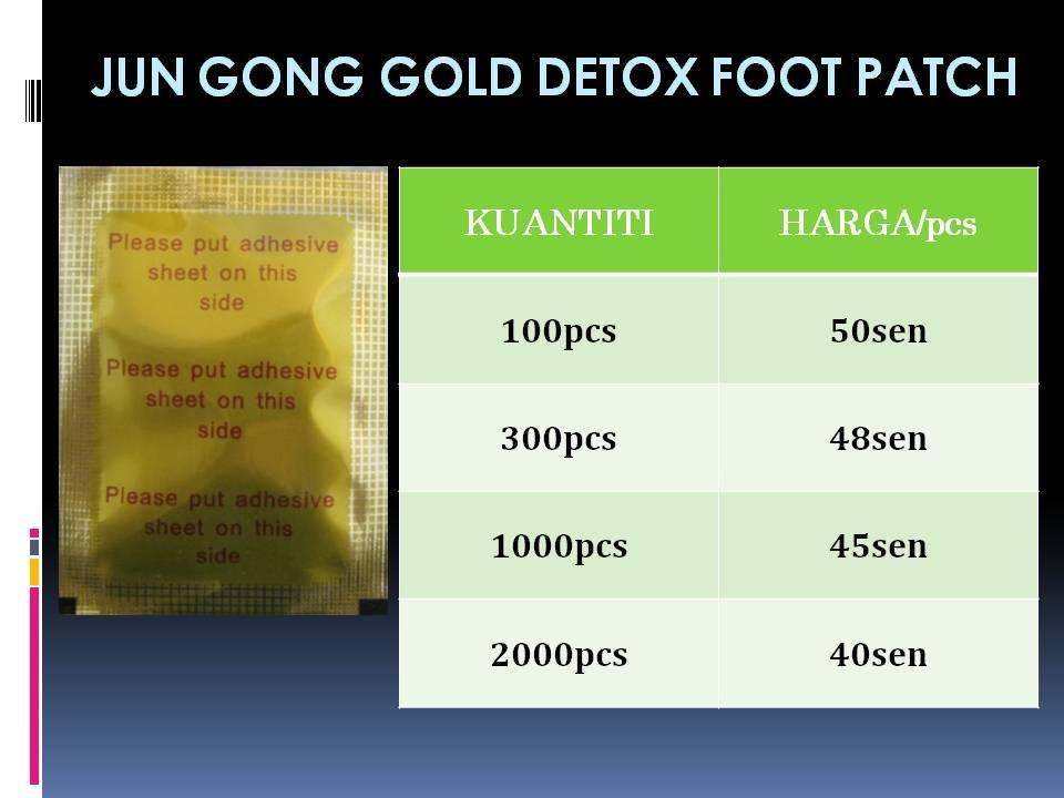 GOLD SLIMMING Detox Foot Patch 100pcs HANYA RM50 + FREE GIFT