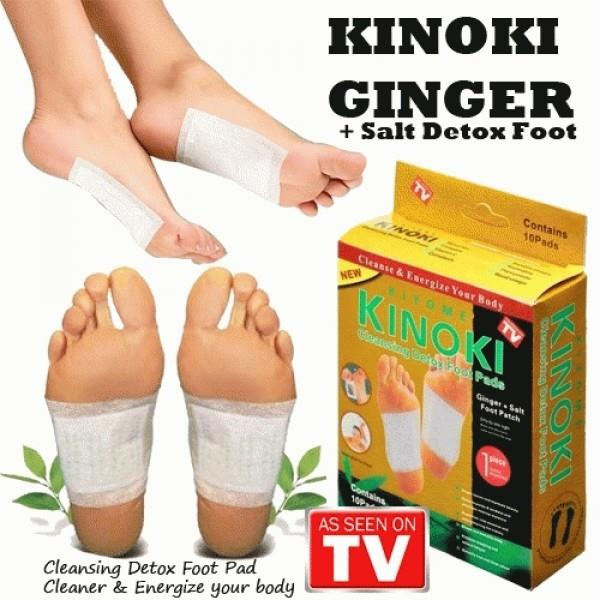 Golden KINOKI Ginger+Salt Cleansing Detox Foot Pads 10pcs/box