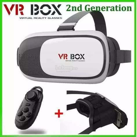 Google VR BOX Virtual Reality 3D Glasses Bluetooth with Remote