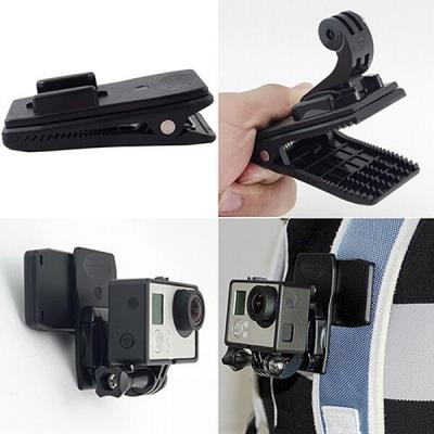 For Gopro Accessories 360 Degree Rotary Backpack Hat Clip Clamp
