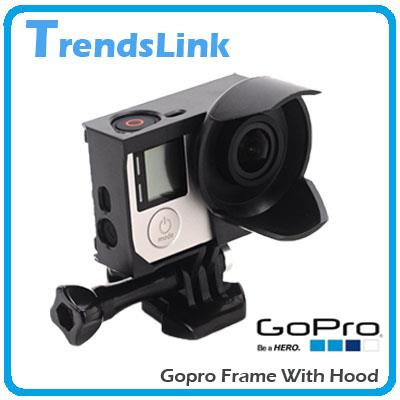 GoPro Hero 3,3+,4 Protective Frame Case With Hood