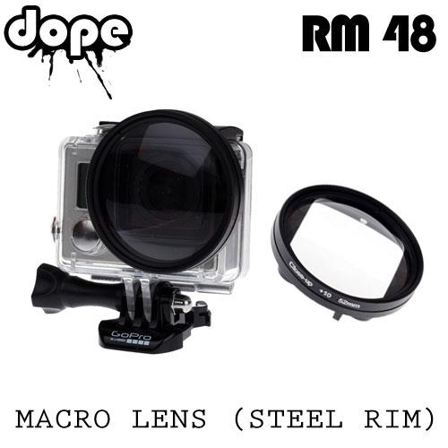 GoPro HERO3+/HERO4 Macro Lens with Steel Rim