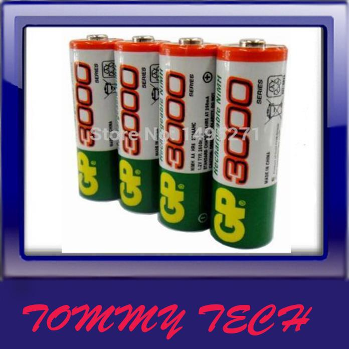 Gp 4PCS/SET  rechargeable batteries  AA  high high capacity 3000,3600