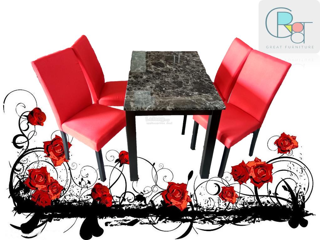 GR8T DINING SET  (1 + 4 Fabric Chair)