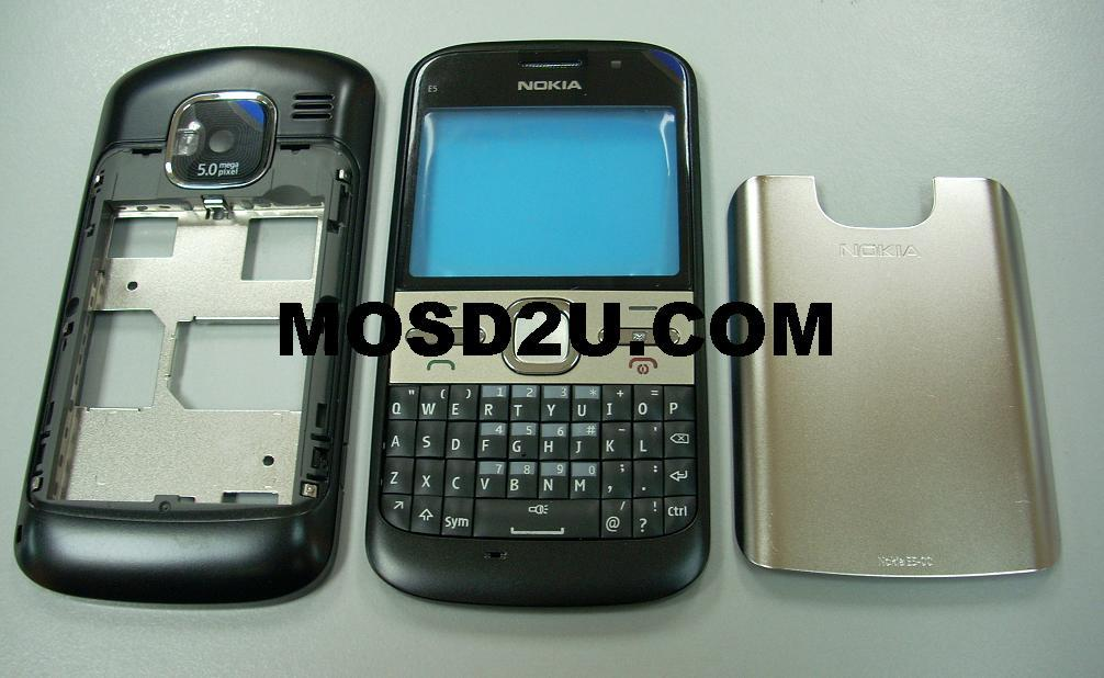 Grade AAA Nokia E5 Housing @ Black / Sparepart / Repair