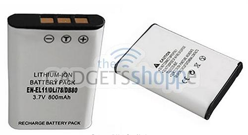 GRADE A EN-EL11 HIGH CAPACITY REPLACEMENT BATTERY for NIKON S550 S560