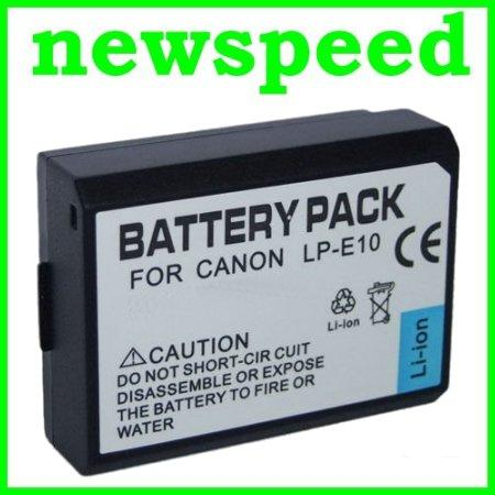 Grade A LP-E10 Li-Ion Battery for Canon Kiss X50 Rebel T3 LPE10
