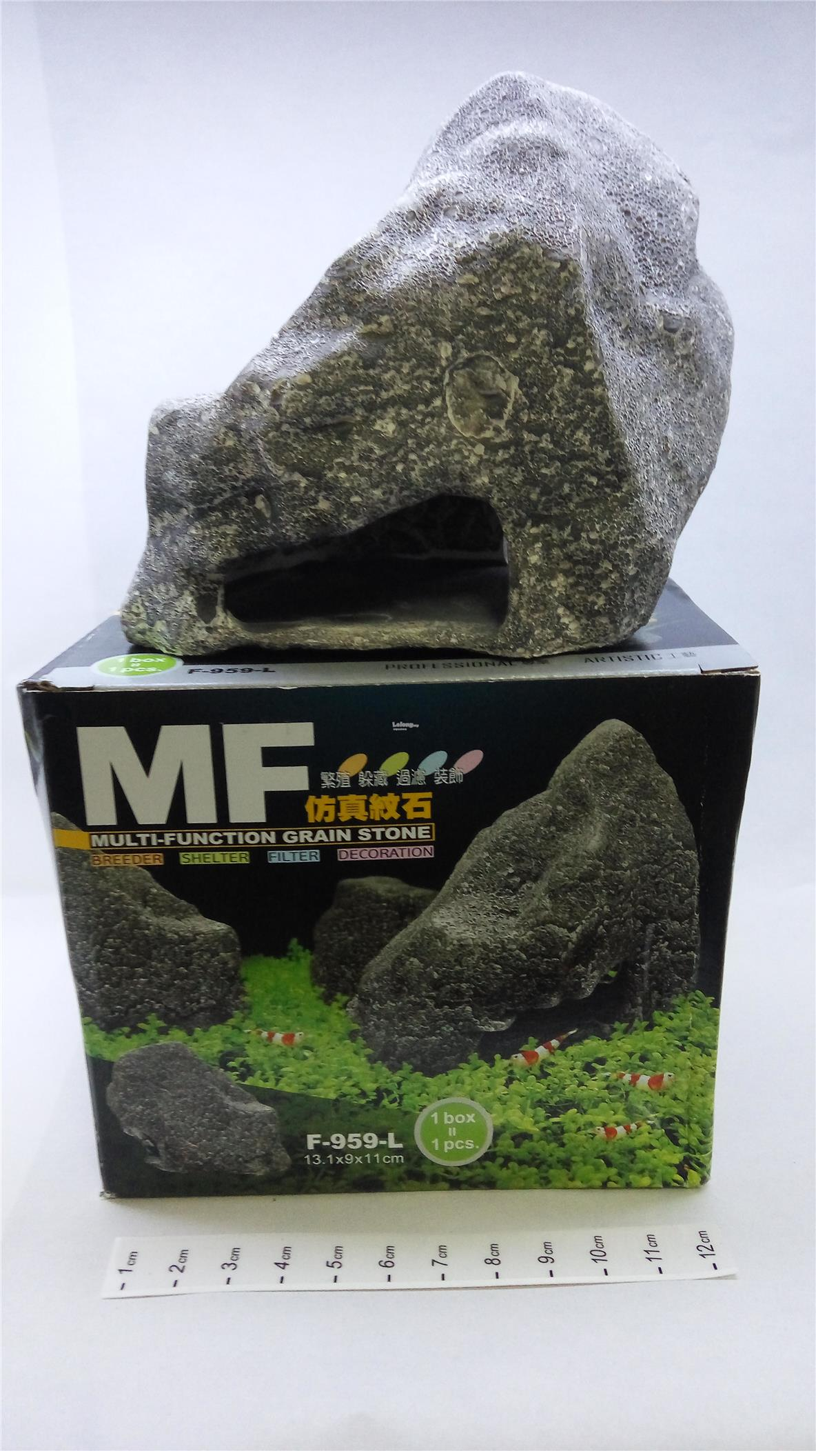 Grain Stone Aquarium Decoration-L