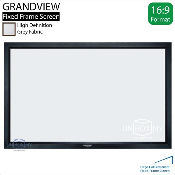 GRANDVIEW Large Flat Series Fixed Frame Screen 106D Grey