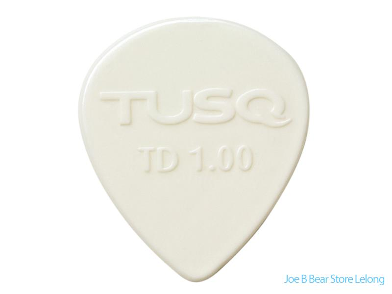 Graph Tech Guitar TUSQ Tear Drop Pick 1mm White (Bright) - 6 Pack