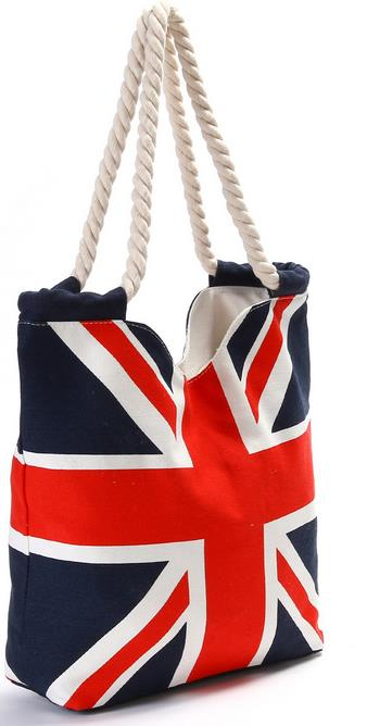 Great Britain Flag Design Casual Canvas Tote Bag Handbag