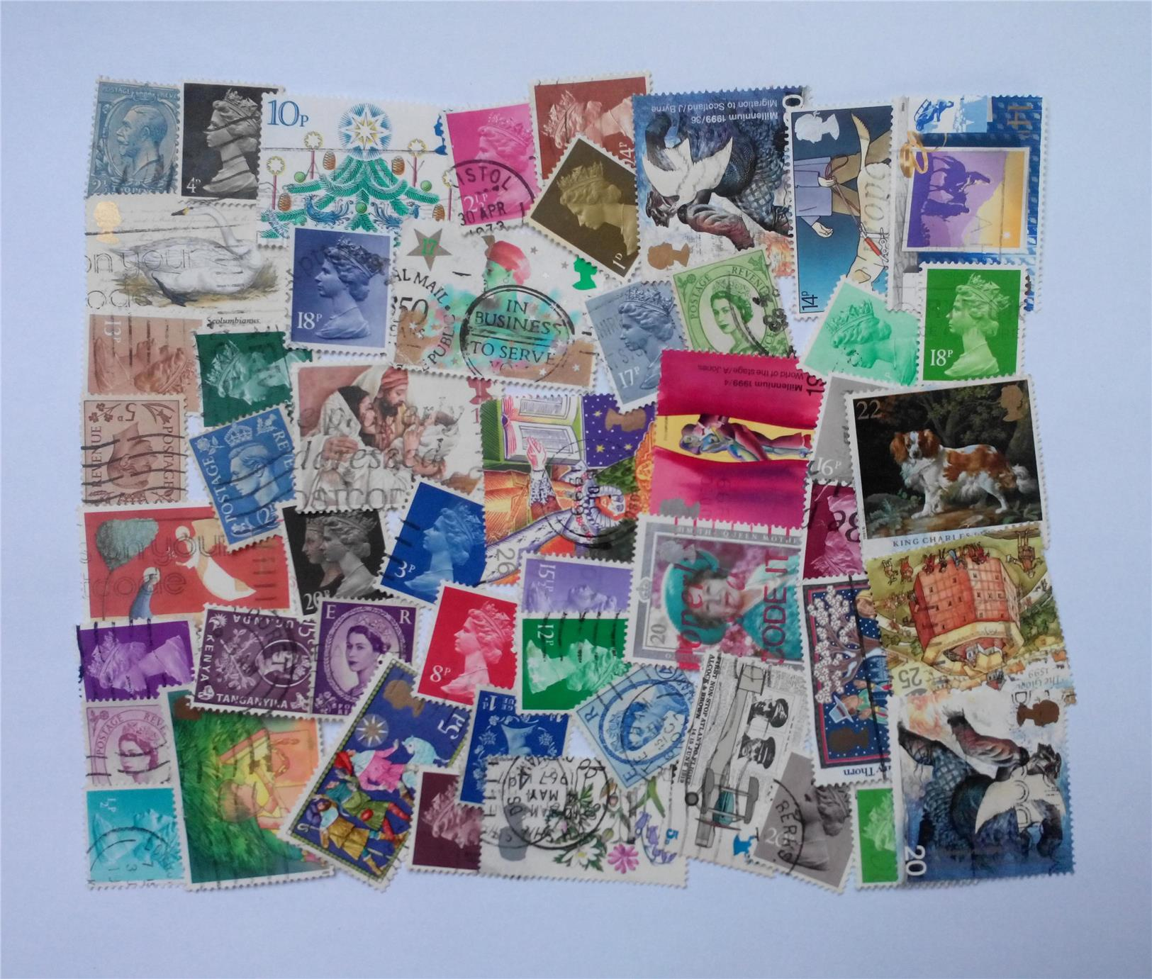 Great Britain stamps mix 50 pcs