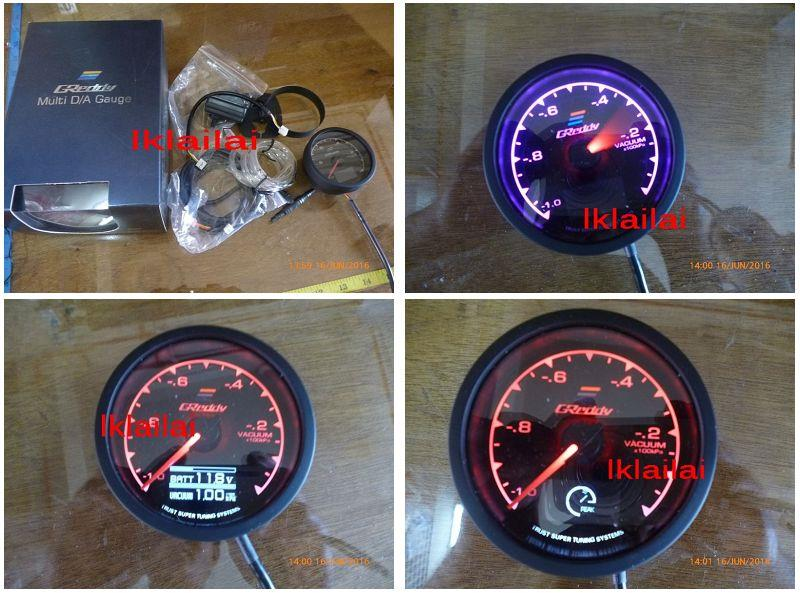 Greddy Multi Gauge Meter [RPM/Boost/Oil/Fuel Pressure/Water/Oil Temp