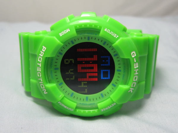 New Green Casio G-Shock Digital Watch ( G-405 )