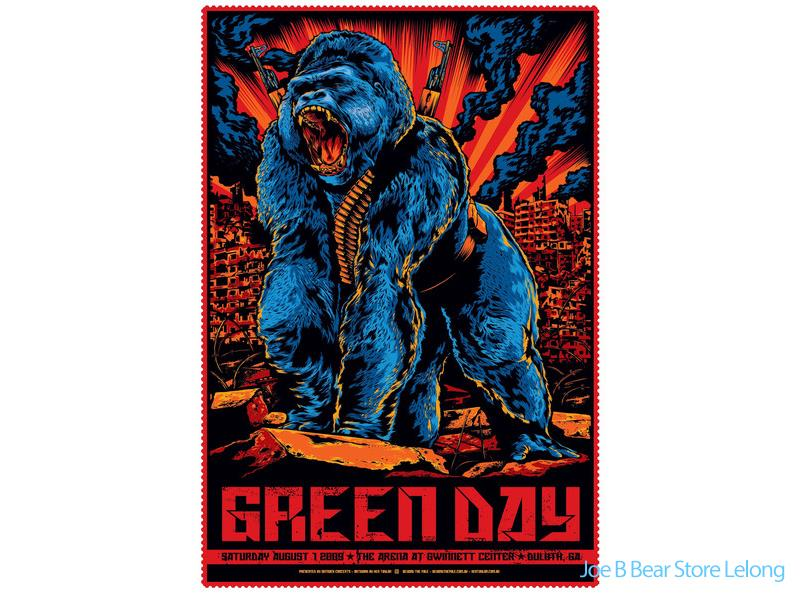 "Green Day - Duluth, Georgia 2009 Gig poster (27""x18.5"")"