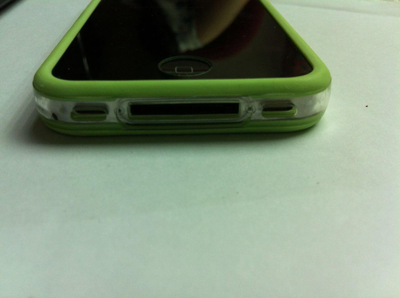 GREEN iphone 4 rubber bumper