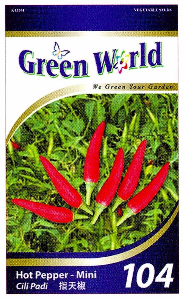 Green World Seeds Cili Padi @Hot Pepper - Mini