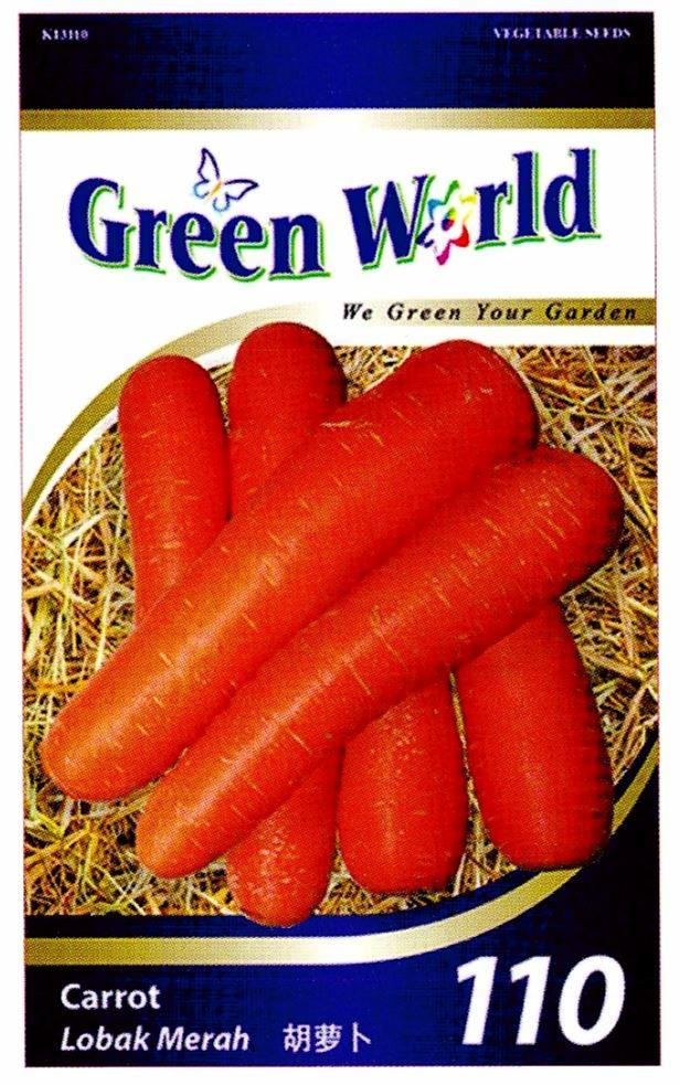 Green World Seeds Lobak Merah @Carrot