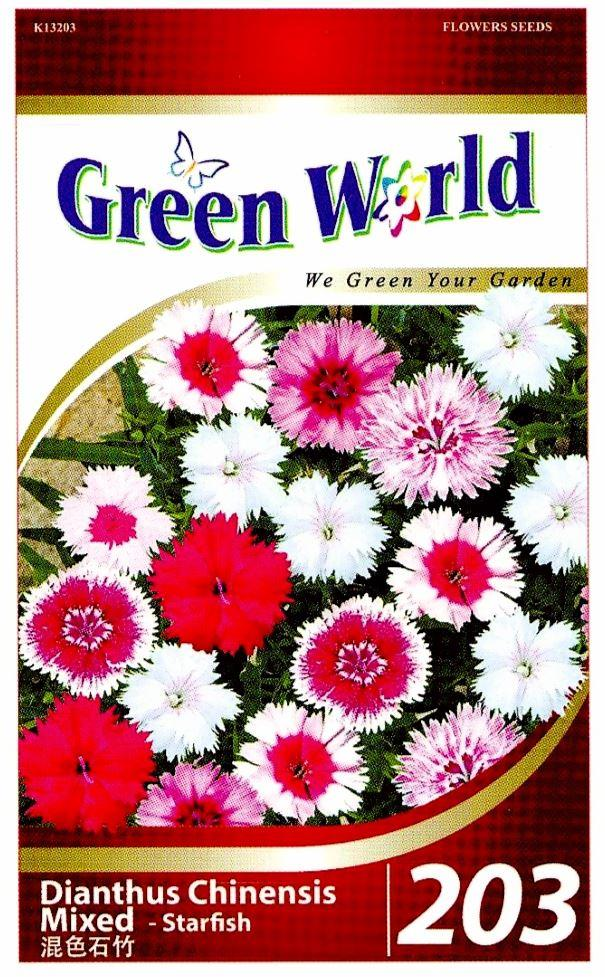 Green World Seeds Starfish @Dianthus Chinensis Mixed