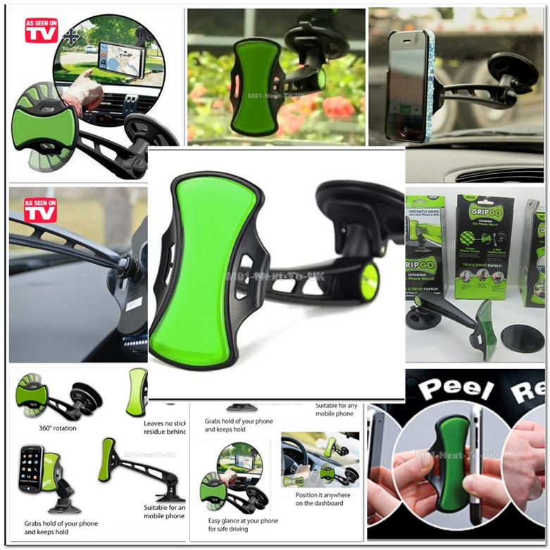 GripGo Short Shank As Seen On TV Universal Car Phone Mount Hands Free