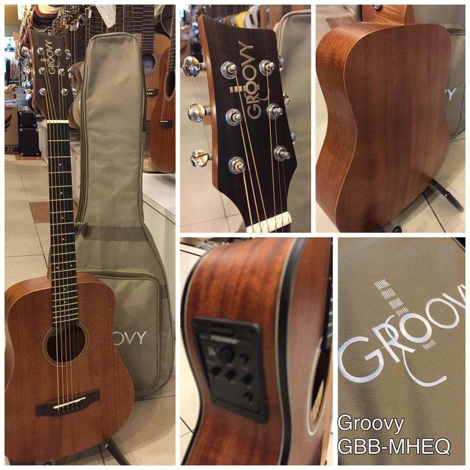 GROOVY 'G' SERIES GBB MAHOGANY EQ ACOUSTIC GUITAR WITH BAG