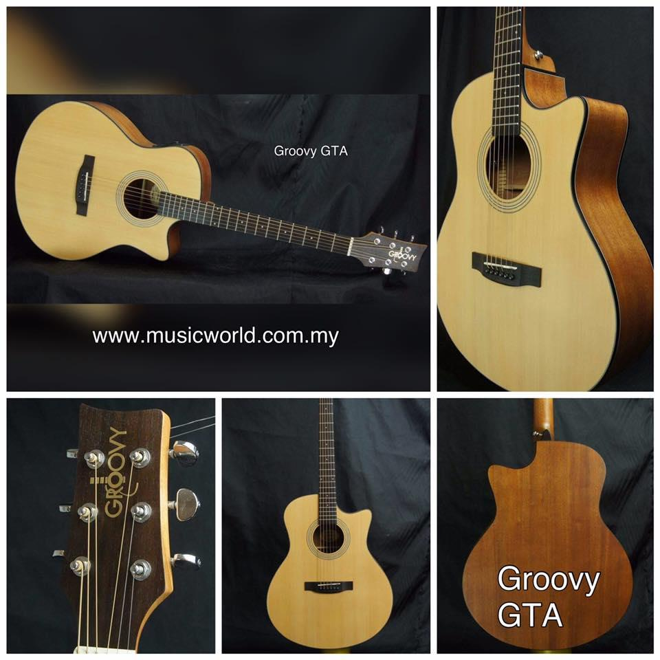 GROOVY 'G' SERIES GTA ACOUSTIC GUITAR WITH BAG