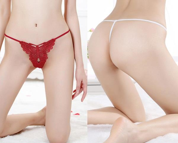 GS2010 Sexy Panties Butterfly Design T-Back Woman G-String (8 Colors)