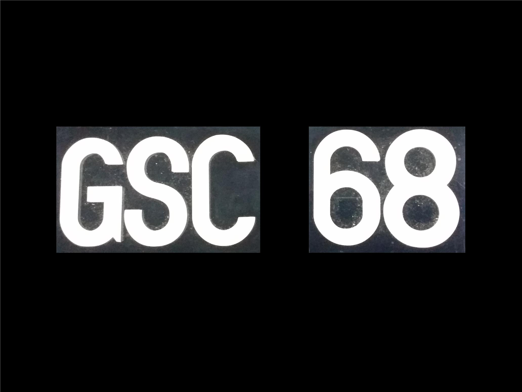 GSC FONT CRYSTAL ACRYLIC CAR NUMBER PLATE SET 2 - 7 ALPHABET