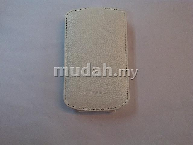 Gtoracer1 @ Blackberry Bold4 9900 Melkco Leather Pouch @ Jacka @ White ~