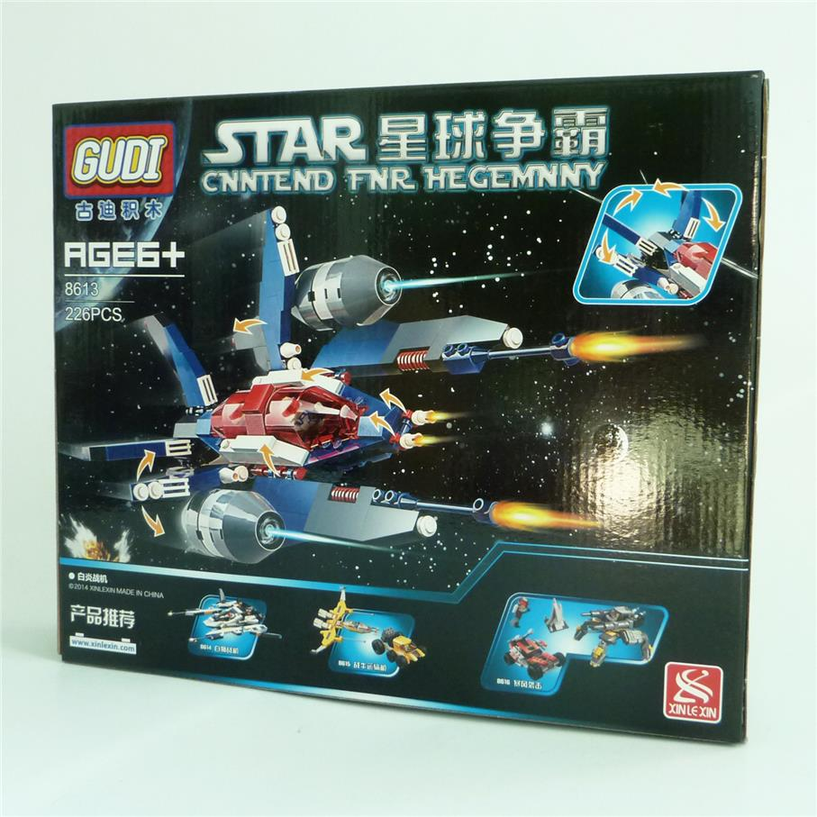GUDI 8613 Star Fighters CNNTEND FNR HEGEMNNY building blocks model