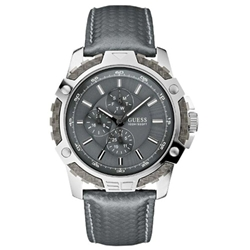 Guess W14558G2 Gents Sport Grey Leather Multifunction Watch