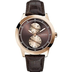 Guess W85120G2 Gents Dress Brown Leather Watch