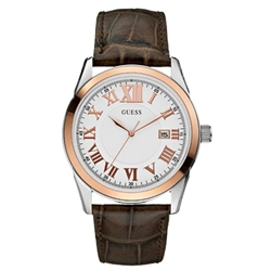 Guess W95142G1 Gents Dress Brown Leather Watch