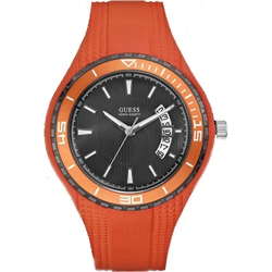Guess W95143G5 Gents Sport Auminum Orange Silicone Strap Watch