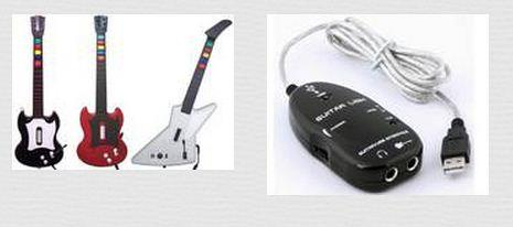 Guitar to USB Interface Midi Audio Link Cable For Recording Mac PC
