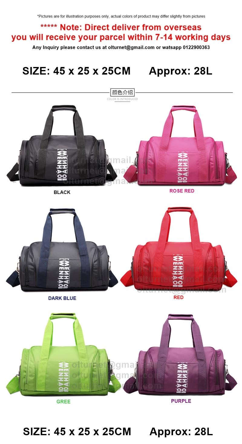 Gym Fitness Training Sports Bag Shoes Or Basketball Compartments Bag