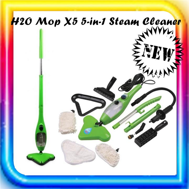 H2O Mop X5 5-in-1 Steam Cleaner (Green)