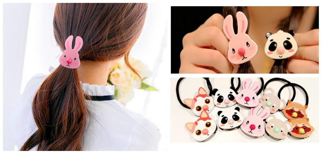 HA0135 3D CUTIE ANIMAL HAIRSTRING