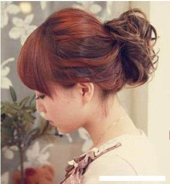 Hair Bun-Pattern Wig Hair Band