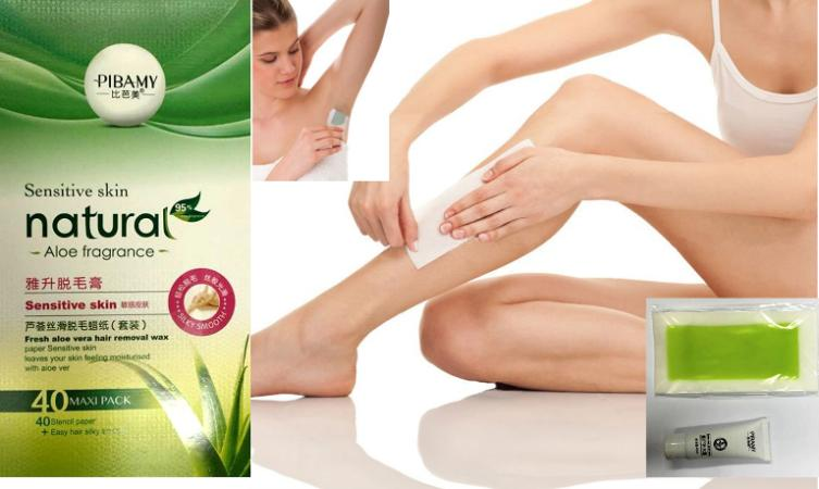 Hair removal Wax Sensitive Skin : Wax Pembuang bulu Aloe Vera PIBAMY