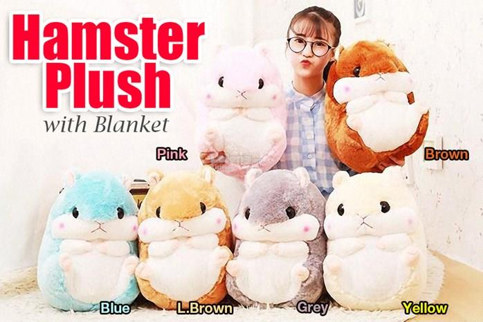 HAMSTER PLUSH WITH BLANKET