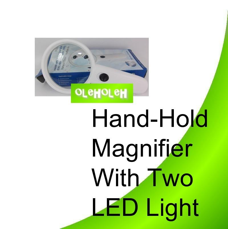 Hand-Hold Magnifier With Two LED Light