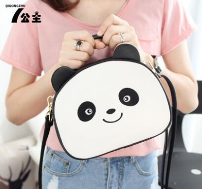Handbag cute cartoon panda Messenger shoulder bag