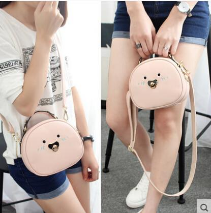 Handbag Messenger Bag Cartoon cute little round bag shoulder bag