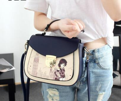 Handbags hit color handbag shoulder bag Messenger bag