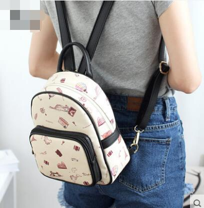 Handbags printed shoulder bag backpack