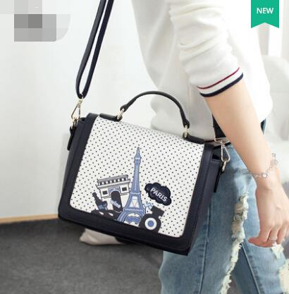 Handbags printed shoulder bag hit color small bag Messenger bag