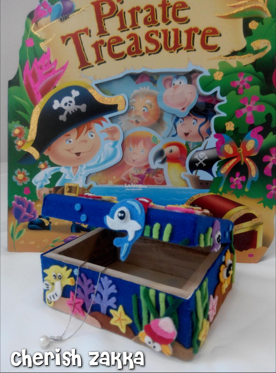 Handcrafted Under The Sea Treasure Chest/ Christmas Gift