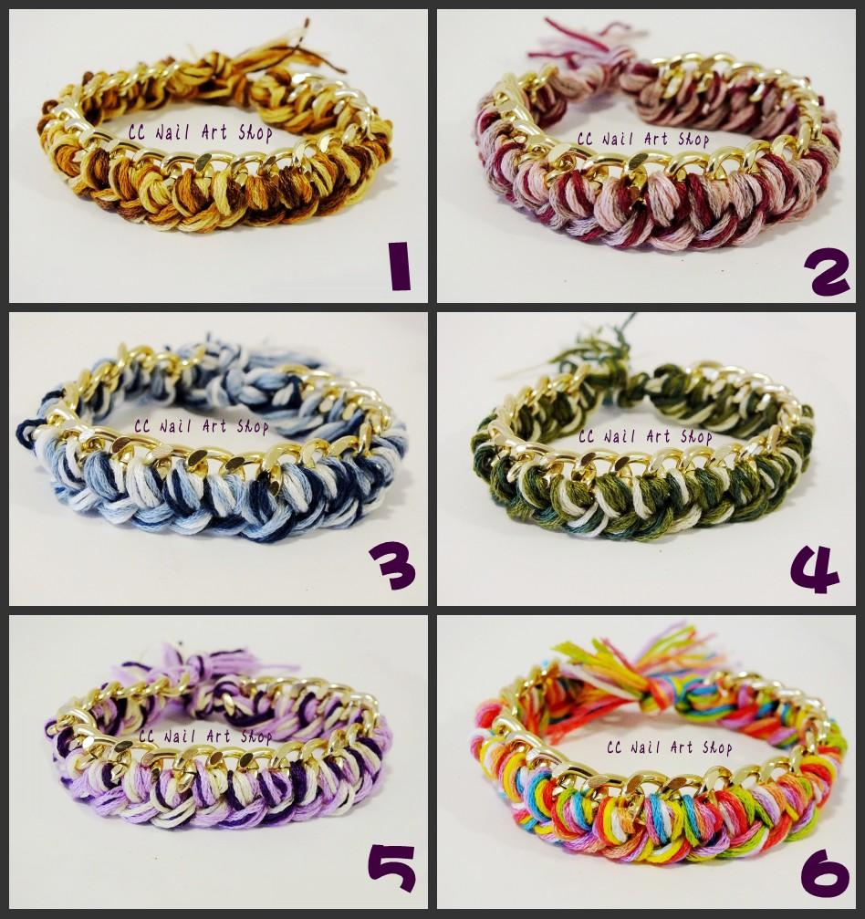 Handmade Braided Gold Chain Bracelet Quality Aluminium Fashion Korean